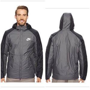 Nike Fleece Lined Hooded Jacket (107)